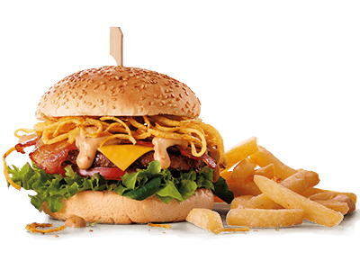 Crispy Stack Burger with Chips